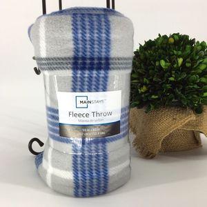 Mainstays Fleece Plaid Throw Blanket - NWT